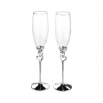 Lillian Rose Silver Heart Toasting Glasses