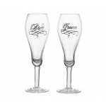 Lillian Rose Bride & Groom Glasses