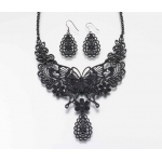 Lillian Rose Butterfly Jewelry Set - Black