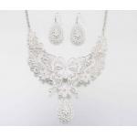 Lillian Rose Butterfly Jewelry Set - Silver