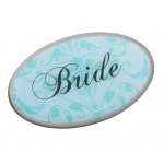Lillian Rose Bride Pin - Oval Aqua