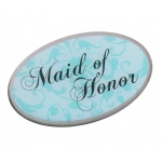 Lillian Rose Maid of Honor Pin - Aqua