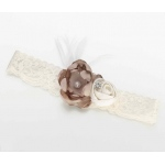 Lillian Rose Vintage Garter - Ivory/Taupe