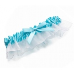 Lillian Rose Aqua Satin Garter