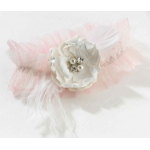 Lillian Rose Chic & Shabby Garter - Blush