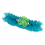 Lillian Rose Blue/Green Tulle Garter