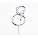 Lillian Rose Silver Rhinestone Monogram - Large E