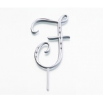Lillian Rose Silver Rhinestone Monogram - Large F