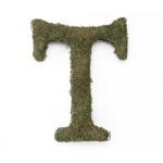 Lillian Rose Large 15 inch Moss Monogram Letter - T