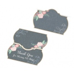Lillian Rose Set of 24 Black and Pink Place Cards