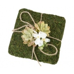 Lillian Rose Moss Ring Pillow