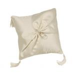 Lillian Rose Satin Sash Ring Pillow - Ivory