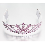 Lillian Rose Sweet 16 Tiara - Pink