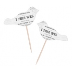 "Lillian Rose Set of 12 Cupcake Pick - ""True Love"" Birds"