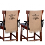 Lillian Rose Mr. & Mrs. Burlap Chair Covers